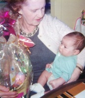 Great Granny B and 4 month old great-grand son, Tony