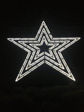 Roanake, Va. Man-made Star Mill Mountain Park